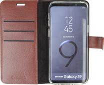 Valenta Booklet Gel Skin Samsung Galaxy S9 Book Case Brown