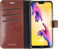 Valenta Booklet Gel Skin Book case Huawei P20 Lite Brun