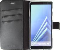 Valenta Booklet Gel Skin Samsung Galaxy A8 (2018) Book Case Black