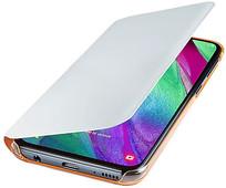 Samsung Galaxy A40 Wallet Cover Book Case White
