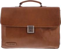 """Plover 2-Pack Laptop Bag 15.6 """"Full Grain Cowhide Brown M"""