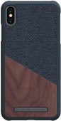 Nordic Elements Frejr Apple iPhone Xs Max Back Cover Dark Gray / Wood