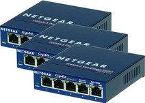 Netgear GS105GE 5-Poorts Gigabit Netwerk Switch 3 Pack
