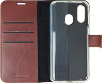 Valenta Booklet Gel Skin Samsung Galaxy A40 Bruin Leer