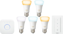 Philips Hue White Ambiance Starter Pack met Dimmer - 5 lampen