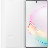 Samsung Galaxy Note 10 Plus Clear View Cover Book Case White