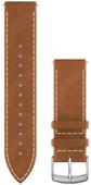 Garmin Quick Release 20mm Watch Strap Leather Light Brown