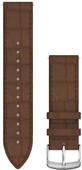 Garmin Quick Release 20mm Watch Strap Leather Dark Brown