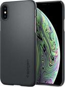 Spigen Thin Fit Back cover Apple iPhone Xs/X Gris