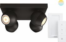 Philips Hue Buckram 4-Spot Noir à Variateur
