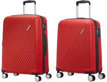 American Tourister Visby Spinner 55cm Red + American Tourister Visby Spinner 76cm Red