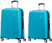 American Tourister Visby Spinner 55 + 76cm Light Blue Suitcase Set