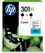 HP 301XL Zwart Twin Pack (D8J45AE)