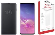 Samsung Galaxy S10 128 GB Zwart + Beschermingspakket