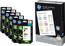 HP 304 Combo Packs + 500 sheets