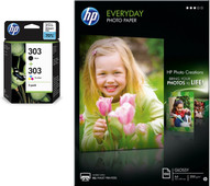 HP 303 4-color + photo paper