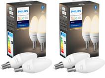 Philips Hue Kaarslamp White E14 Bluetooth 4-Pack