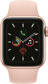 Apple Watch Series 5 40mm Goud Aluminium Roze Sportband