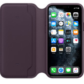 Apple iPhone 11 Pro Max Leather Folio Aubergine