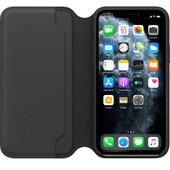 Apple iPhone 11 Pro Max Leather Folio Zwart