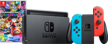 Nintendo Switch (2019 Upgrade) Red/Blue Mario Kart Bundle