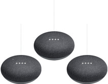 Google Home Mini Grijs 3-Pack