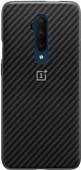 OnePlus 7T Pro Karbon Bumper Case Back Cover Black