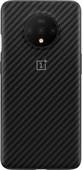 OnePlus 7T Karbon Bumper Case Back Cover Black