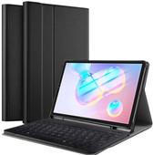 Just in Case Samsung Galaxy Tab S6 Premium Toetsenbord Hoes AZERTY Zwart
