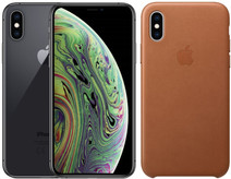 Apple iPhone Xs 64GB Space Gray + Leather Back Cover