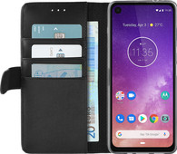 Azuri Wallet Motorola One Vision Book Case Zwart