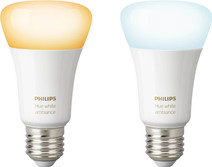 Philips Hue White Ambiance E27 Bluetooth Lot de 2