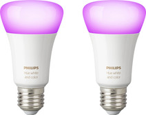 Philips Hue White and Color E27 Bluetooth Lot de 2