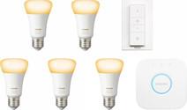 Philips Hue White Ambiance E27 Kit de démarrage - 5 ampoules