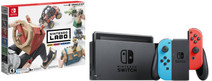 Nintendo Switch (2019 upgrade) rood/blauw + Nintendo Labo Voertuigenpakket