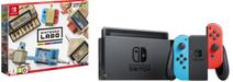 Nintendo Switch (2019 upgrade) rood/blauw + Nintendo Labo Mix pakket