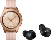 Samsung Galaxy Watch 42 mm Rose Gold + Samsung Galaxy Buds Zwart