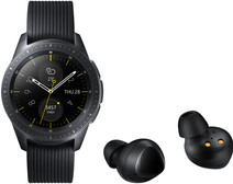 Samsung Galaxy Watch 42 mm Midnight Black + Samsung Galaxy Buds Zwart