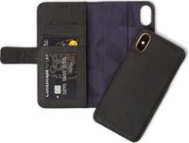 Decoded Leather Bookcase Portefeuille 2-en-1 iPhone X/Xs Noir