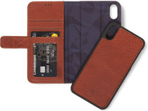 Decoded Leather 2-in-1 Wallet iPhone X/Xs Book Case Marron