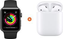 Apple Watch Series 3 42mm Space Gray Zwart + Apple AirPods 2