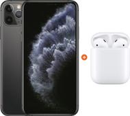 Apple iPhone 11 Pro Max 256 GB Space Gray + Apple AirPods 2 met oplaadcase