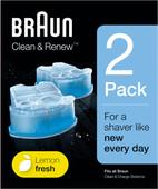 Braun Liquide Nettoyant Clean & Renew cartouches (2 pièces)