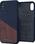 Nordic Elements Frejr Apple iPhone X / Xs Back Cover Blue / Wood