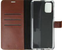 Valenta Samsung Galaxy A51 Book Case Leer Bruin