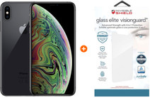 Apple iPhone Xs Max 64 Go Gris sidéral + InvisibleShield Verre