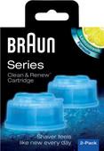 Braun reinigingsvloeistof Clean & Renew cartridges (2 stuks)