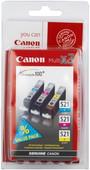 Canon CLI-521 CMY Pack économique Couleur (2934B010)