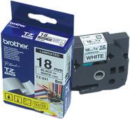 Brother TZ-241 Étiquette Noir sur Blanc (18 mm x 8 m)