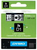 Dymo D1 Étiquettes de nom Noir-Blanc (9 mm x 7 m)